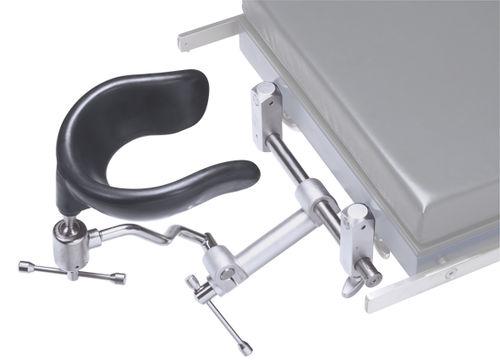 headrest / for operating tables / horseshoe-shaped / adjustable
