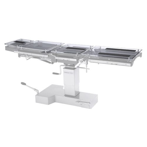operating table-mounted radiography cassette holder