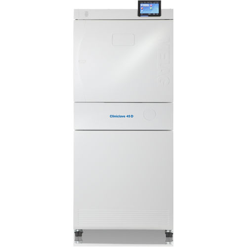 medical autoclave / vertical / front-loading / mobile