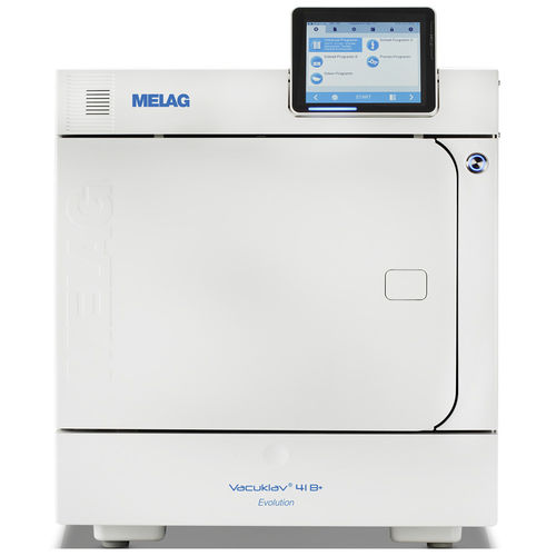 medical autoclave / front-loading / benchtop / with touchscreen