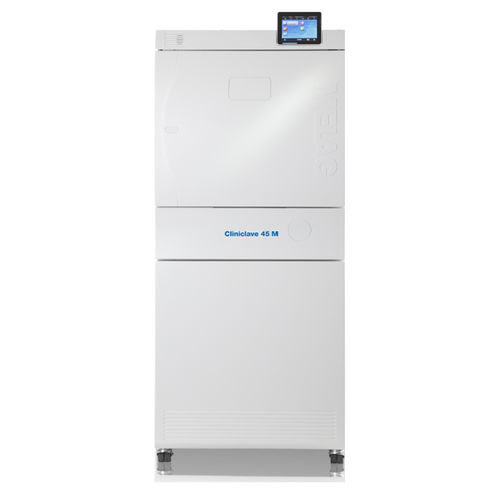 medical autoclave / vertical / front-loading