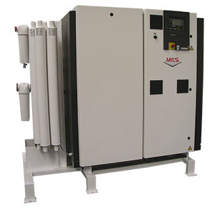 medical air compression system / modular / lubricated / screw