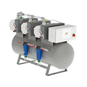 medical vacuum system / rotary vane / lubricated