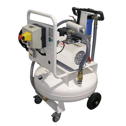 hospital vacuum pump / rotary vane / lubricated / mobile