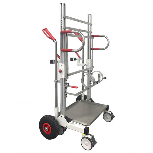 docking cart / transport / emergency / stainless steel
