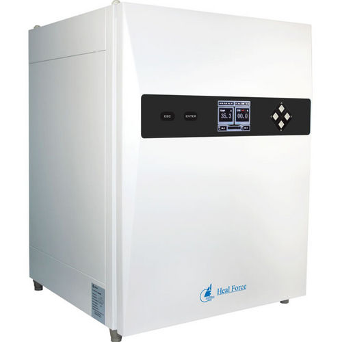 multi-gas laboratory incubator / for cell cultures / bench-top / stainless steel
