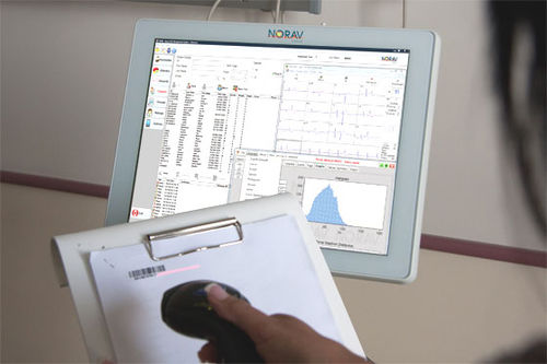 patient data management system / hospital / stress test ECG / ECG