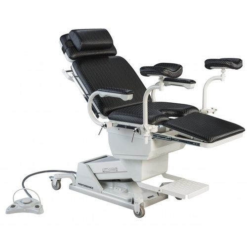 gynecological examination chair / electric / height-adjustable / on casters