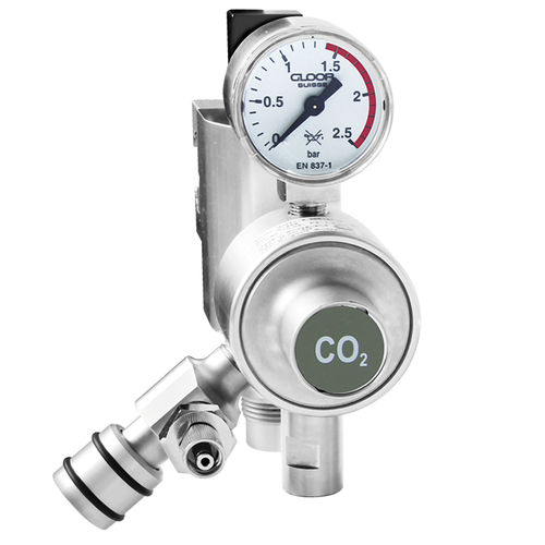 CO2 pressure regulator / rail-mounted