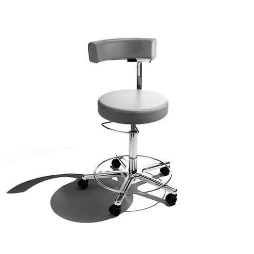 doctor's office stool / height-adjustable / pneumatic / rotating
