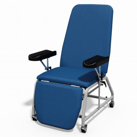 phlebotomy examination chair / manual / on casters / reclining
