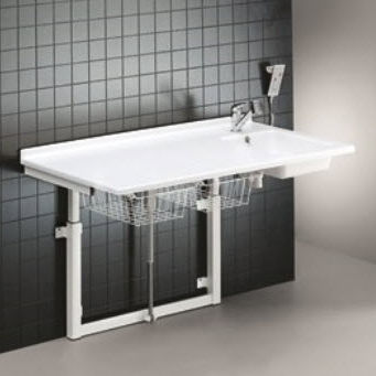 changing table / rectangular / height-adjustable / electric