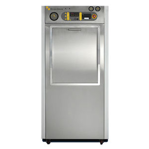 laboratory autoclave / vertical / front-loading / automatic