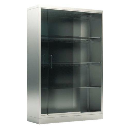 instrument cabinet / operating room / with shelf / 2-door