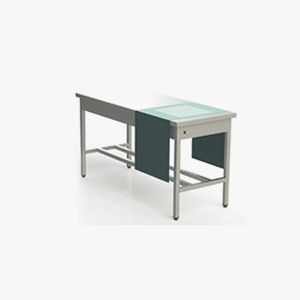 medical instruments packing table / rectangular / stainless steel