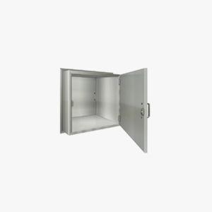 transfer cabinet / patient room / with shelf / 1-door