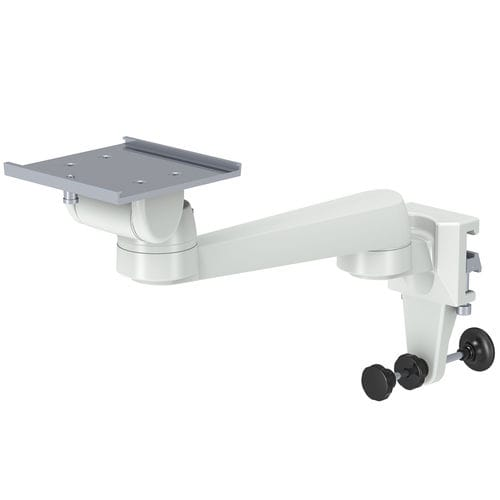 rail-mounted monitor support arm