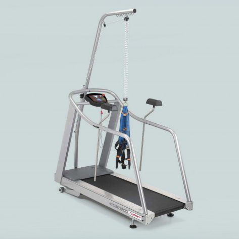 treadmill with handrails / with harness system / with underarm bars