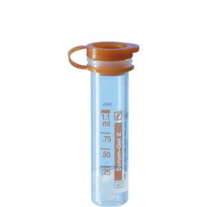 cone-bottom collection tube / polypropylene / separator gel / with coagulation activator