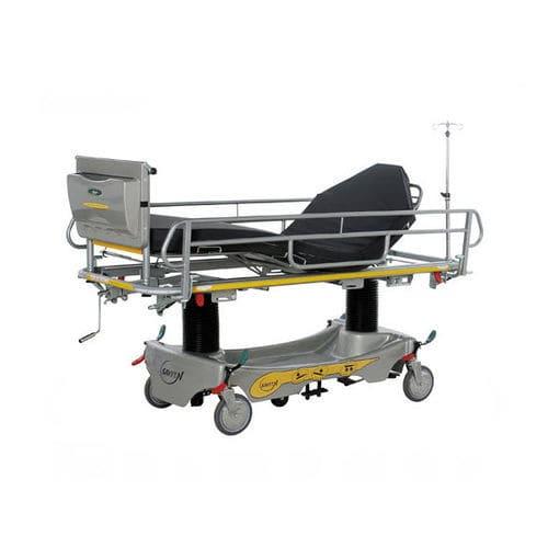 manual stretcher trolley / Trendelenburg / height-adjustable / trauma