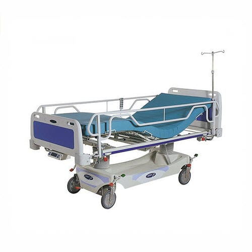 intensive care bed / electric / height-adjustable / on casters