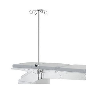 table-mounted IV pole / 4-hook / for operating tables