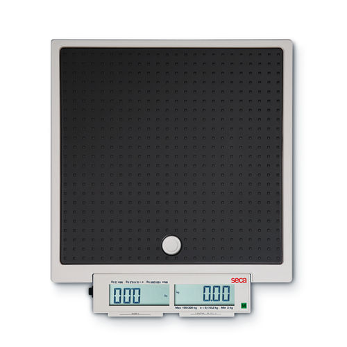 electronic patient weighing scale / with digital display / mobile