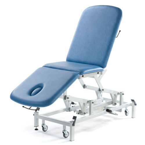 electric massage table / hydraulic / height-adjustable / 3-section