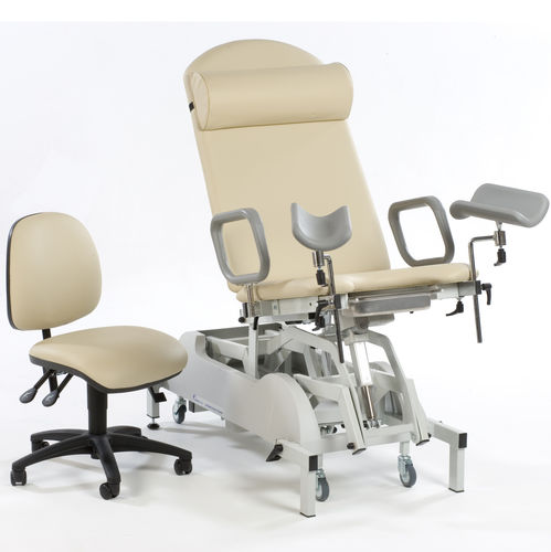 gynecological examination couch / electric / on casters / 2-section