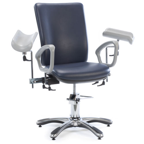 hydraulic blood donor chair / 2-section / height-adjustable