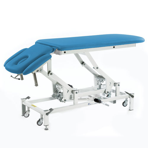 electric massage table / hydraulic / with headrest / with armrests