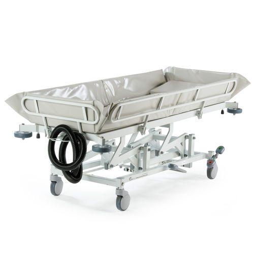 height-adjustable shower trolley