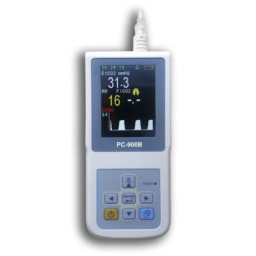 hand-held pulse oximeter / with capnograph / with separate sensor