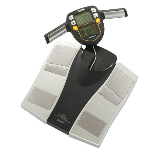 segmental body composition analyzer / for fat mass measurement / with mobile display / with BMI calculation