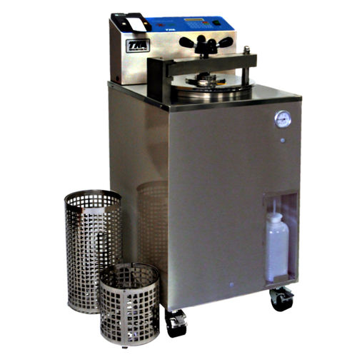 laboratory autoclave / hot air / vertical / floor-standing