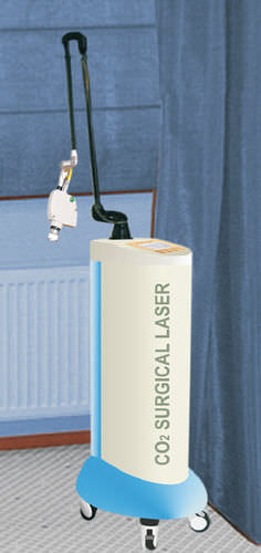 dermatology laser / acne treatment / CO2 / trolley-mounted
