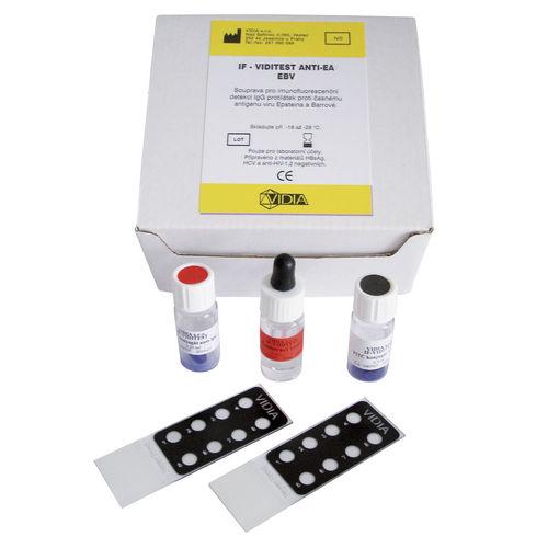 Epstein-Barr virus test kit / for infectious diseases / serum / immunofluorescence