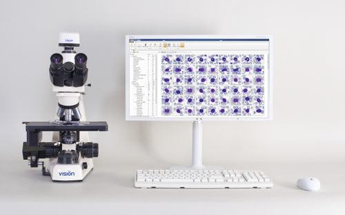 automatic cell imaging system / for hematology / for blood cells