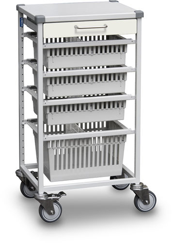 treatment trolley / transport / for instruments / for medical records