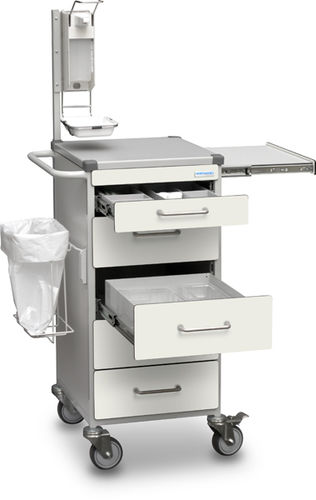 multi-function trolley / blood donation / for instruments / for medical records