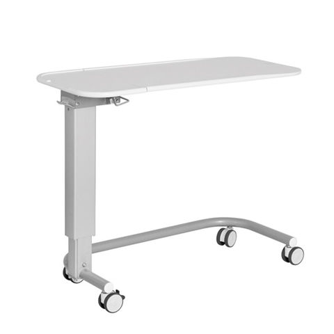 height-adjustable overbed table / tilting / on casters