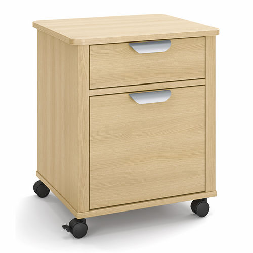 bedside table with wardrobe / on casters