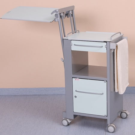 bedside table with integrated over-bed table / with wardrobe / on casters