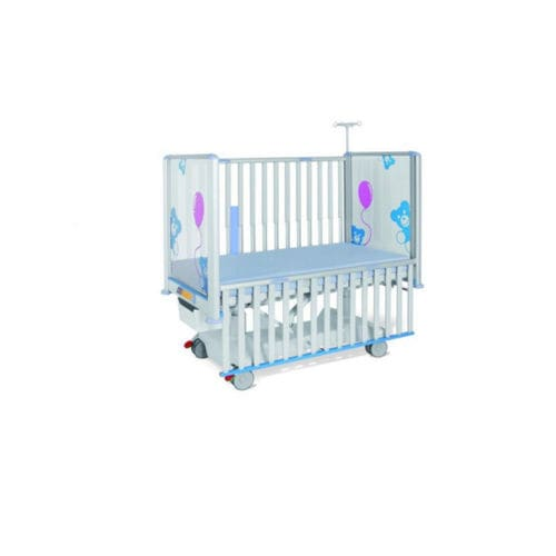 medical bed / electric / on casters / 1-section