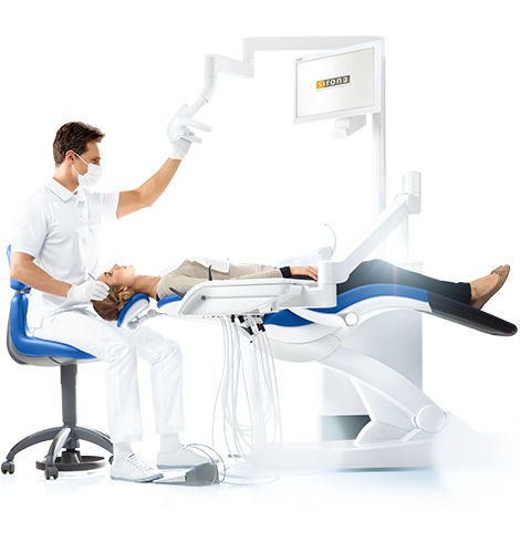 dental unit with monitor - Dentsply Sirona