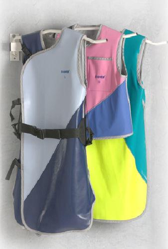 wall-mounted X-ray apron rack