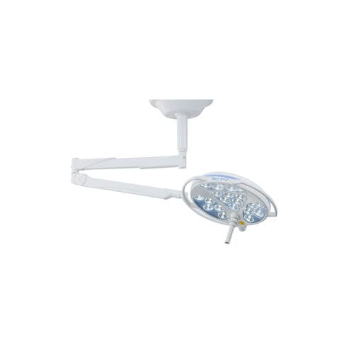 ceiling-mounted surgical light / LED / with control panel