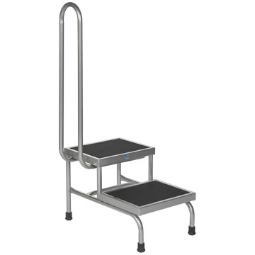 2-step step stool / with handrail