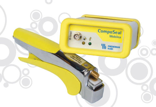 blood bag tube thermosealer / battery-operated / hand-held