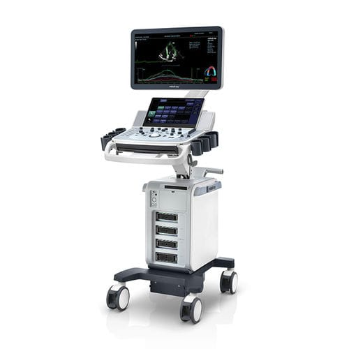 portable, with trolley ultrasound system / for multipurpose ultrasound imaging / B/W